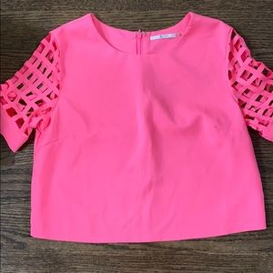 Never worn size small short sleeve blouse